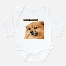 Pomeranian Infant Creeper Body Suit