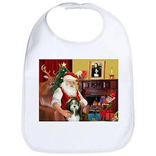 Santa's Bearded Collie Bib