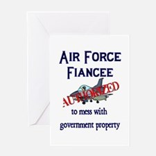 Air Force Fiancee Authorized Greeting Card