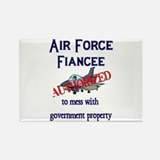 Air Force Fiancee Authorized Rectangle Magnet