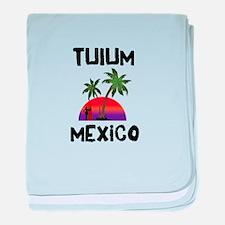 Tulum Mexico baby blanket