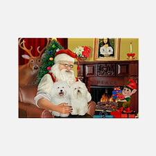 Santa's Bolognese pair Rectangle Magnet (10 pack)