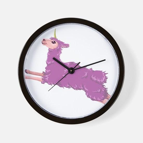 Llamacorn Wall Clock