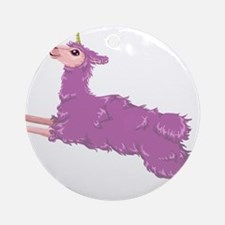 Llamacorn Round Ornament
