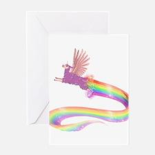 Allamacorn Rainbow Greeting Cards