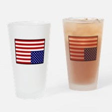 DISTRESSED AMERICAN FLAG Drinking Glass