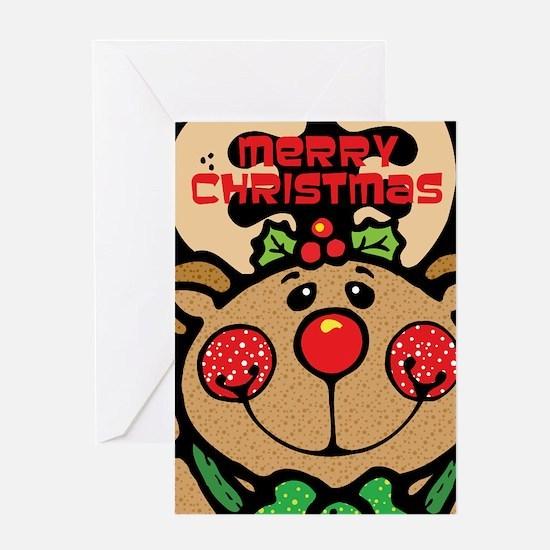 Christmas Reindeer Greeting Card