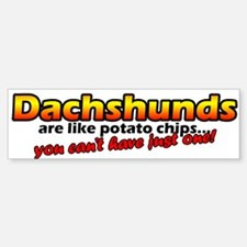 Potato Chips Dachshunds Bumper Bumper Bumper Sticker