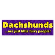 Furry People Dachshund Bumper Bumper Sticker