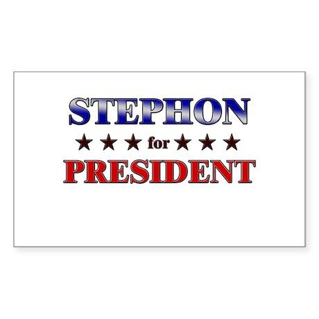STEPHON for president Rectangle Sticker