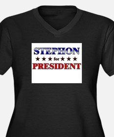 STEPHON for president Women's Plus Size V-Neck Dar