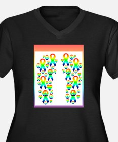 Gay Peace and Love to ALL Plus Size T-Shirt