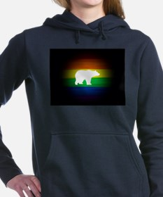 rainbow gay bear art Women's Hooded Sweatshirt