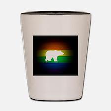 rainbow gay bear art Shot Glass
