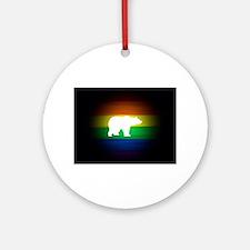 rainbow gay bear art Round Ornament