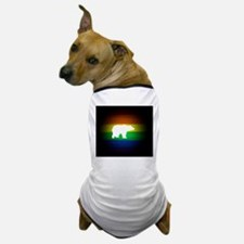rainbow gay bear art Dog T-Shirt