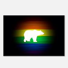 rainbow gay bear art Postcards (Package of 8)