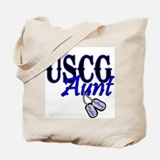 USCG Dog Tag Aunt Tote Bag