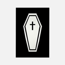 Coffin Rectangle Magnet