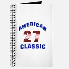 American Classic 27 Birthday Journal