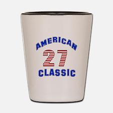 American Classic 27 Birthday Shot Glass