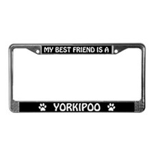 My Best Friend Is A Yorkipoo License Plate Frame