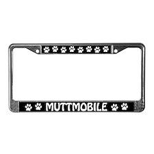 Muttmobile License Plate Frame