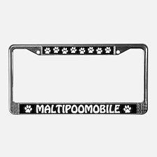 Maltipoomobile License Plate Frame