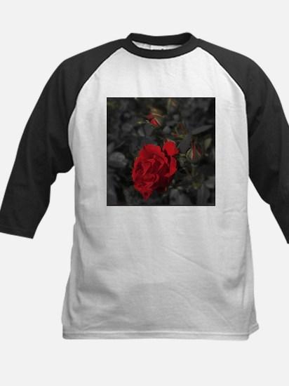 red rose in dark mourning death ba Baseball Jersey