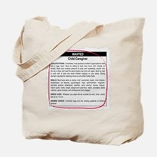 Child Caregiver Ad Tote Bag