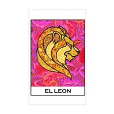 El Leon Rectangle Decal