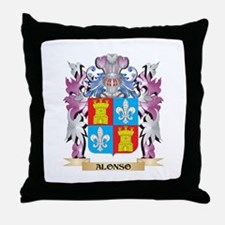 Alonso Coat of Arms (Family Crest) Throw Pillow