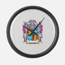 Alonzo Coat of Arms (Family Crest Large Wall Clock