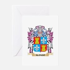 Alonzo Coat of Arms (Family Crest) Greeting Cards