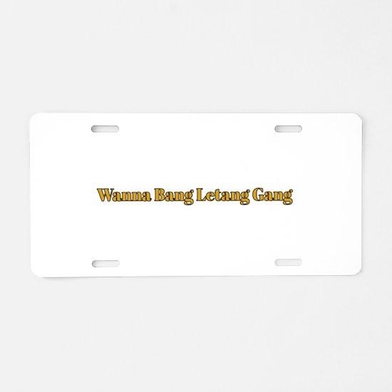 Cute Ladies hockey Aluminum License Plate