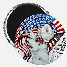 Patriotic Westie Magnets