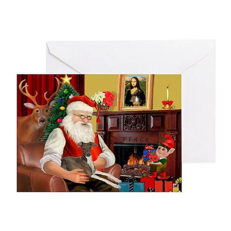 Santa's Ital.Greyt (6) Greeting Card