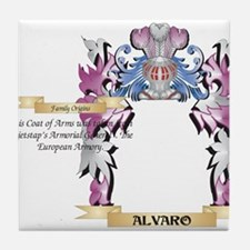 Alvaro Coat of Arms (Family Crest) Tile Coaster