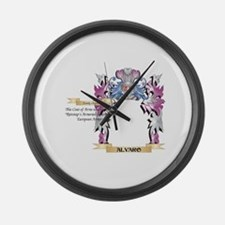 Alvaro Coat of Arms (Family Crest Large Wall Clock