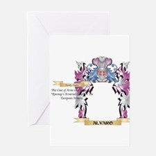 Alvaro Coat of Arms (Family Crest) Greeting Cards