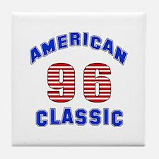 American Classic 96 Birthday Tile Coaster