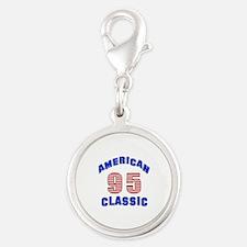 American Classic 95 Birthday Silver Round Charm