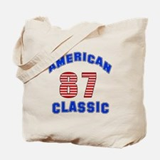 American Classic 87 Birthday Tote Bag