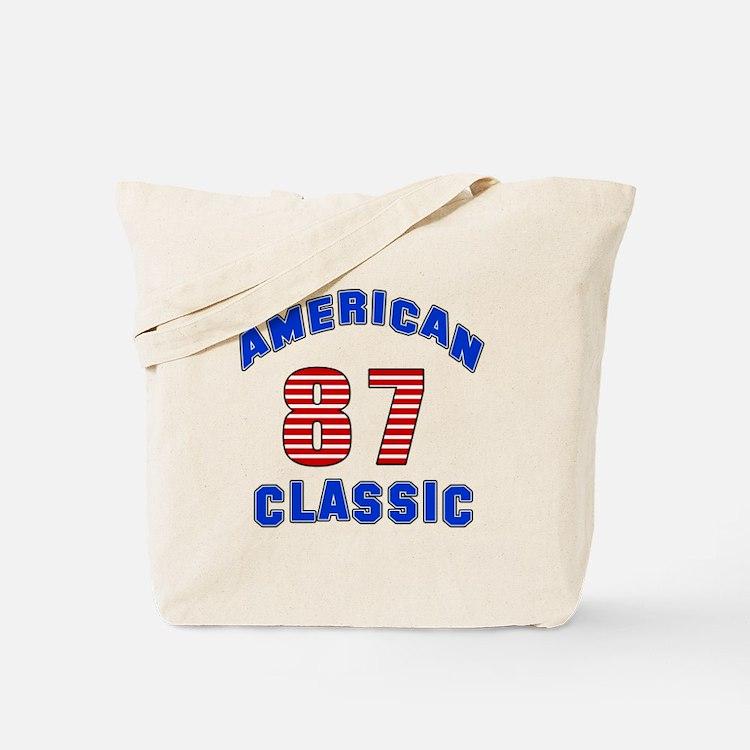 American Classic 87 Birthday Tote Bag