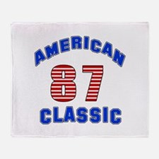 American Classic 87 Birthday Throw Blanket