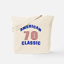 American Classic 70 Birthday Tote Bag