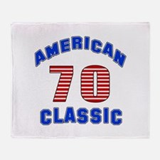 American Classic 70 Birthday Throw Blanket