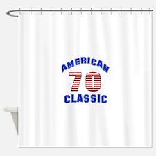 American Classic 70 Birthday Shower Curtain