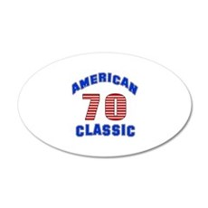 American Classic 70 Birthday Wall Decal