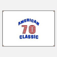 American Classic 70 Birthday Banner